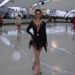 Michela Fanucchi 3a classificata Trofeo 'Passione sul Ghiaccio'   Torre Pellice